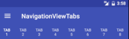 Not scrollable tabs